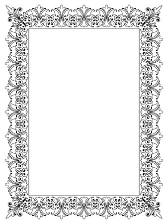 Photo pour Decorative Vector Frame Template with Empty Space for Certificate, Report or other Documents - image libre de droit