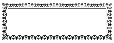 Decorative Vector Frame Panorama Template with Empty Space for Banner, Certificate, Report or other Documents