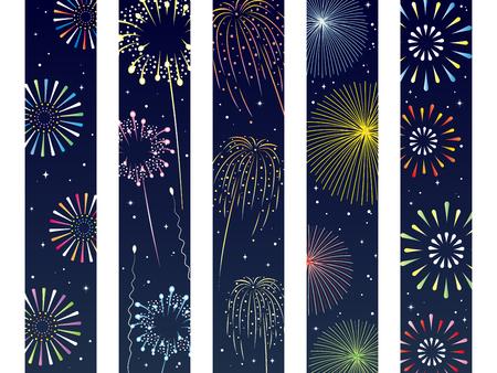 It is an illustration of a Fireworks obi set.
