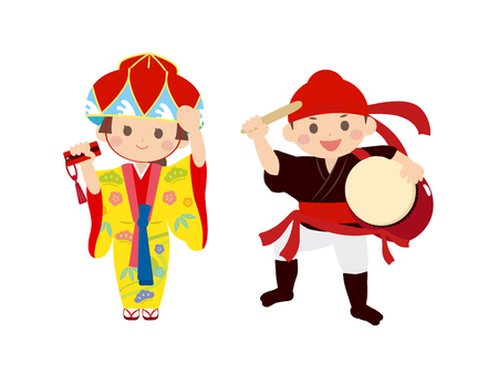 It is an illustration of Okinawa people.