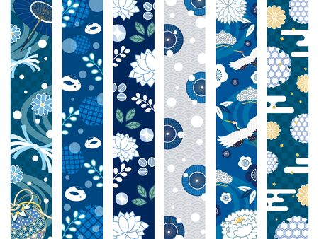 It is an illustration of a Winter japanese pattern.