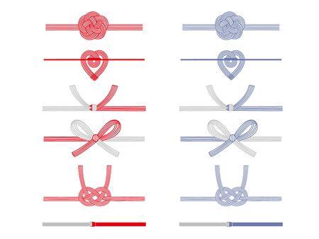 Illustration pour It is an illustration of a Mizuhiki set. - image libre de droit