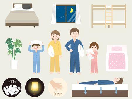 Illustration pour It is an illustration of a Bedding set. - image libre de droit