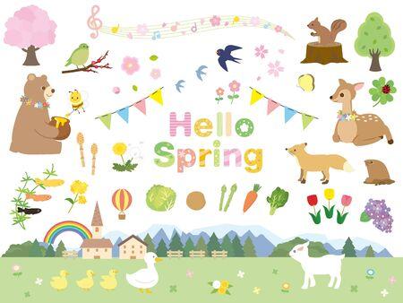 Photo pour It is an illustration of a Spring collection. - image libre de droit