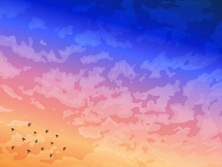 Illustration pour It is an an of a Sunrise background. - image libre de droit
