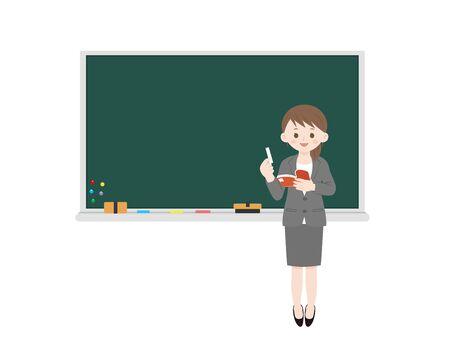 Illustration pour Woman teacher. - image libre de droit