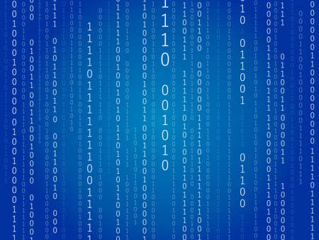 Illustration for It is an illustration of a Binary code background. - Royalty Free Image