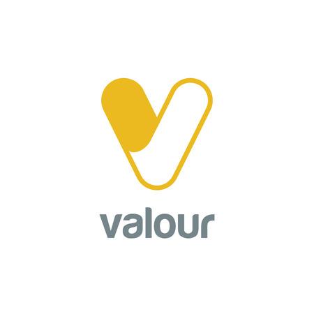 Letter V Logo design vector template.  Font Logotype