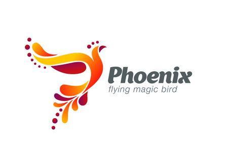 Illustration pour Magic Fairy Bird Abstract Logo design vector template. Flying Phoenix creative Logotype icon. - image libre de droit