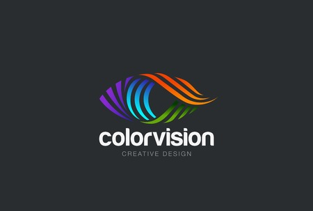 Illustration for Eye  design vector template. Colorful media icon. Vision  concept idea. - Royalty Free Image