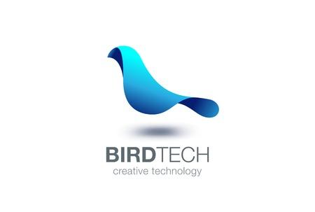 Illustration pour Abstract Bird Logo design vector template. Creative Dove Logotype business technology concept symbol icon. - image libre de droit