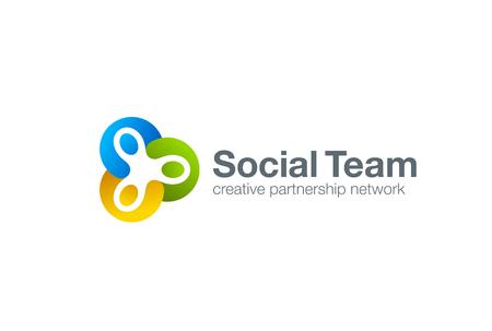 Vektor für Team work Social Logo design vector template. Three men holding hands. Partnership Friendship teamwork Logotype. Community union group triple icon. - Lizenzfreies Bild