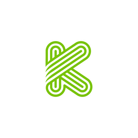 Creative Letter K Logo design vector template Linear. Type Character Symbol Logotype