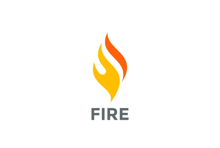 Fire Flame  abstract design vector template. Burn icon. Energy bonfire business technology  concept