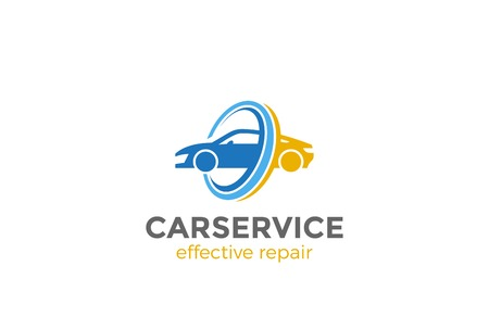 Ilustración de Car Logo abstract design vector template. Vehicle repair washing service Logotype concept icon - Imagen libre de derechos