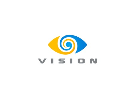 Vektor für Eye Logo vision abstract Logo design vector template. Optics clinic research Logotype concept icon - Lizenzfreies Bild
