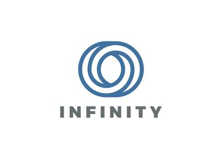 Ilustración de O letter Logo infinite shape design vector template Linear style - Imagen libre de derechos