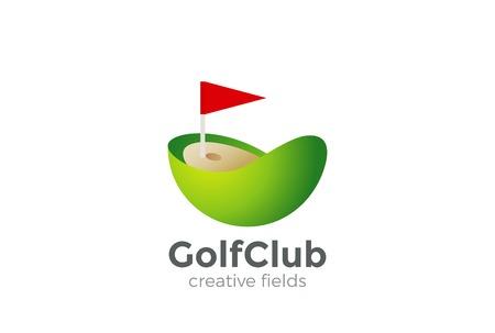 Golf Club Logo Design Vector Template Royalty Free Vector Graphics