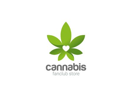 Ilustración de Cannabis Leaves Plant Shop Logo design vector template - Imagen libre de derechos
