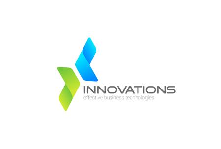 Ilustración de Arrows in two directions focused on Corporate Invest, Business Logo design vector template - Imagen libre de derechos