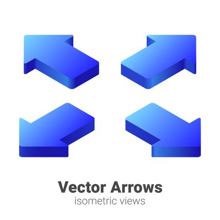 Ilustración de Isometric Arrows Vector set - Imagen libre de derechos