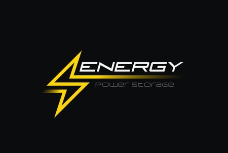 Ilustración de Flash Thunderbolt Energy Power illustration design vector template linear style. Fast speed electricity battery  concept icon - Imagen libre de derechos