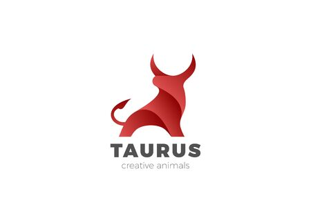 Ilustración de Bull Taurus Bison Buffalo Logo design vector template. Beef Meat Steak House Restaurant Logotype concept icon. - Imagen libre de derechos