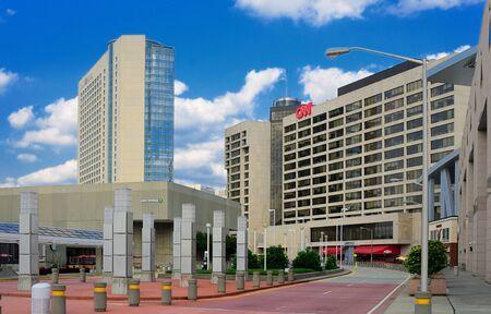 Atlanta, Georgia - May 11, 2011:CNN Center in downtown is