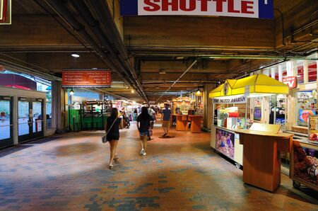 Atlanta, Georgia - June 16, 2011: Shops and arcade at Underground in Atlanta, Georgia.
