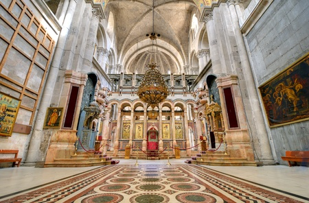 The Catholicon is the church at the center of the Church of the Holy Sepulchre in Jerusalem, Israel