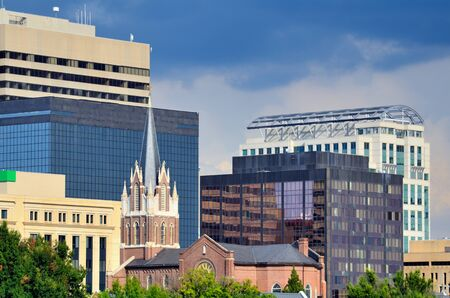 Buildings in downtown Columbia, South Carolina, USA.
