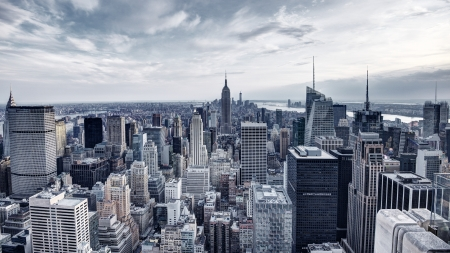 Panorama of New York City in
