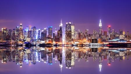 Panorama of midtown New York City