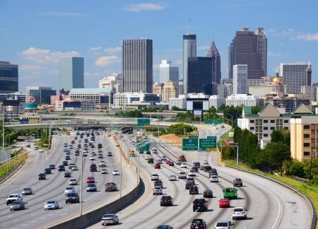 Skyline of downtown Atlanta, Georgia.