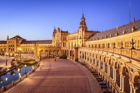 Seville, Spain at Spanish Square (Plaza de Espa–a).