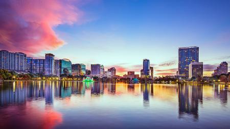 Orlando, Florida, USA downtown city skyline