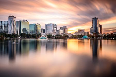 Orlando, Florida, USA downtown city skyline.
