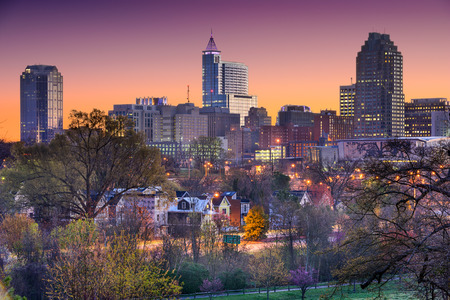 Raleigh North Carolina USA skyline.