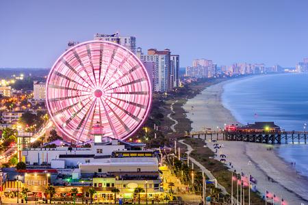 city skyline in Myrtle Beach, South Carolina, USA