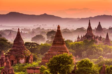 Bagan, Myanmar old temples.