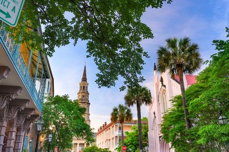Charleston, South Carolina, USA view of the French Quarter.
