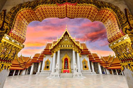 Marble Temple of Bangkok, Thailand.