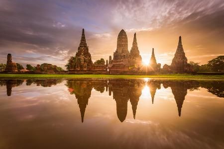 Ayutthaya, Thailand at Wat Chaiwatthanaram.