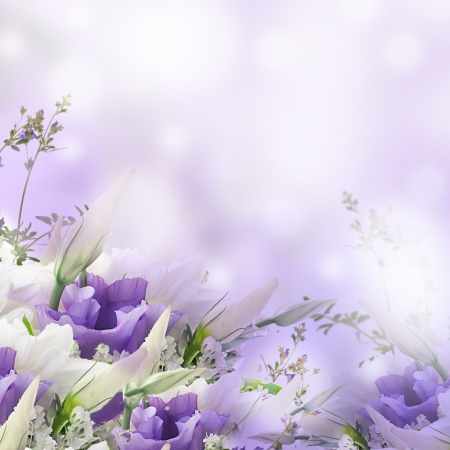 Photo for Bridal bouquet from white and pink flowers - Royalty Free Image