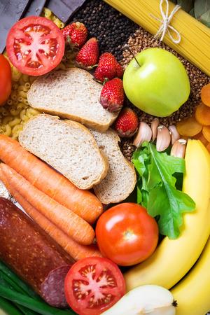 Photo pour Healthy food background - image libre de droit