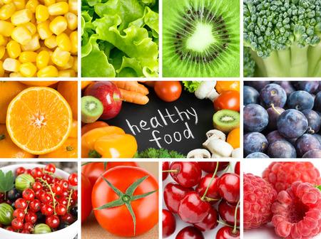 Foto für Healthy fresh color food backgrounds. Fruits and vegetables - Lizenzfreies Bild