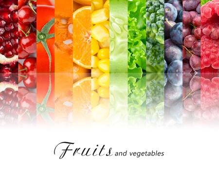 Foto für Fresh fruits and vegetables. Healthy food concept - Lizenzfreies Bild