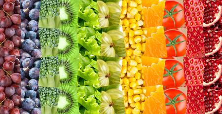 Foto für Fruits and vegetables background. Fresh food. Concept - Lizenzfreies Bild