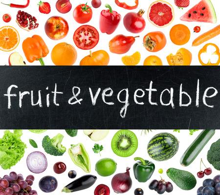 Foto für Fresh color fruits and vegetables concept - Lizenzfreies Bild