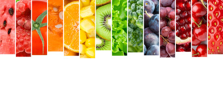 Foto de Fruits and vegetables. Food concept - Imagen libre de derechos